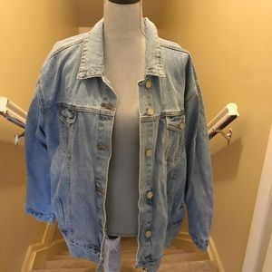 Missguided Oversized Denim Jacket -Sz 10